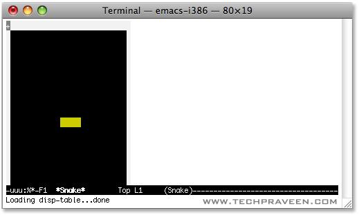 Play hidden snake game in Mac Terminal Window