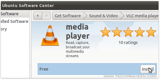 Ubuntu Software Center to Install VLC Player