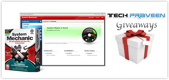 [FREE Giveaway] System Mechanic 12.0 Two License Key Worth $80