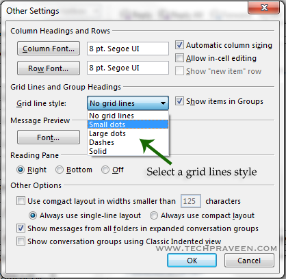 outlook-grid-line-style-in-outlook-2016