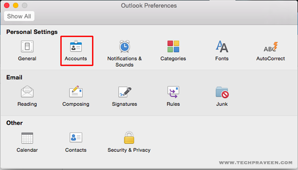 Set up an Gmail account in Outlook 2016 for Mac